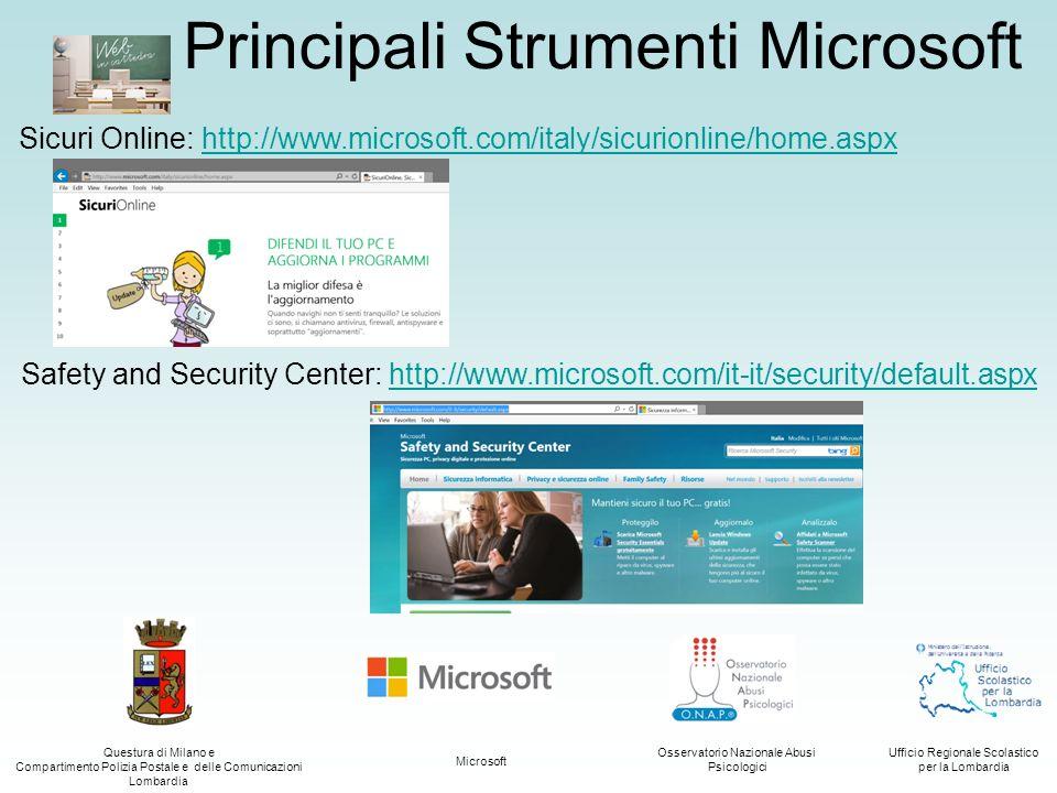 Principali Strumenti Microsoft