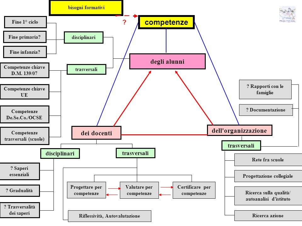 competenze degli alunni dell organizzazione dei docenti trasversali