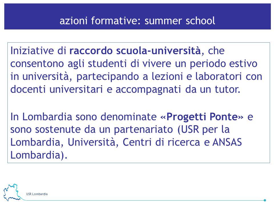 azioni formative: summer school