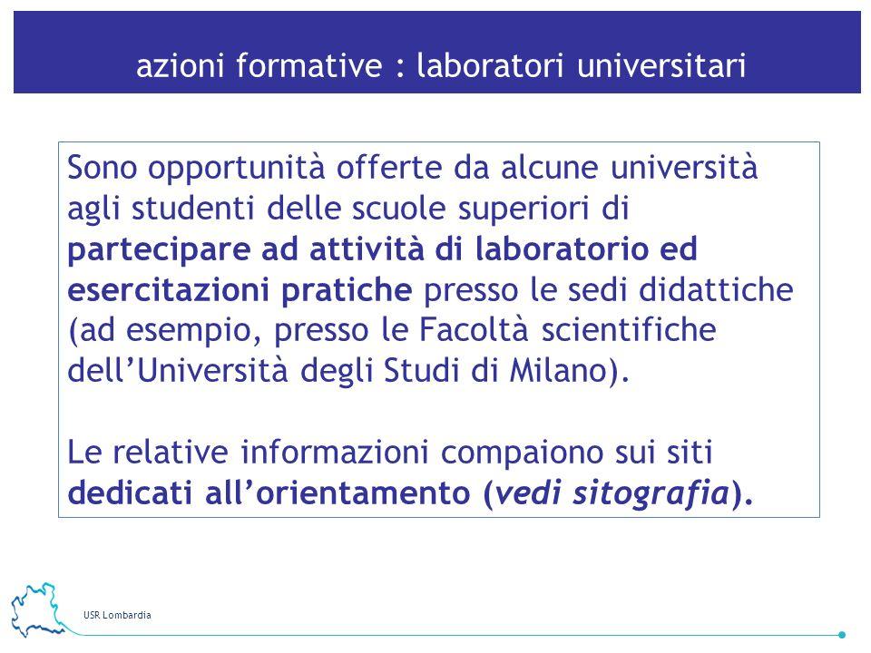 azioni formative : laboratori universitari