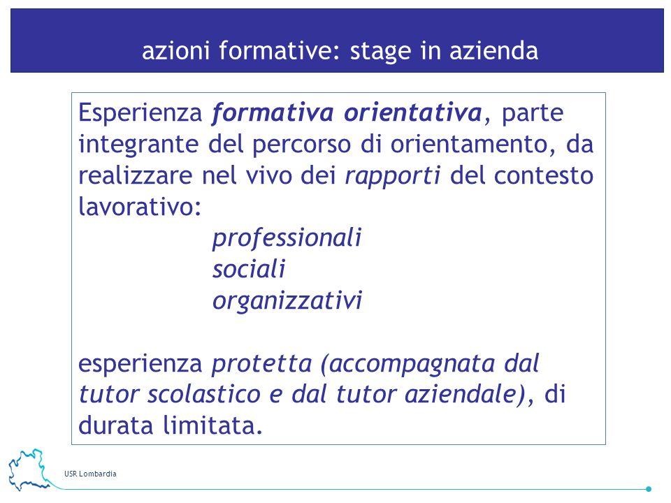 azioni formative: stage in azienda