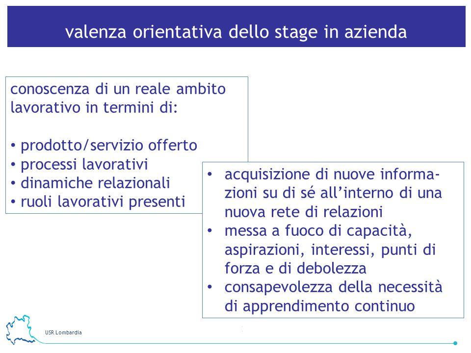 valenza orientativa dello stage in azienda