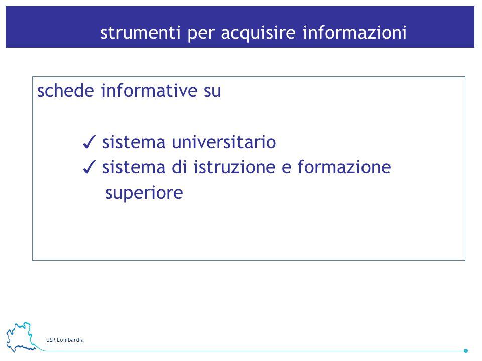 strumenti per acquisire informazioni