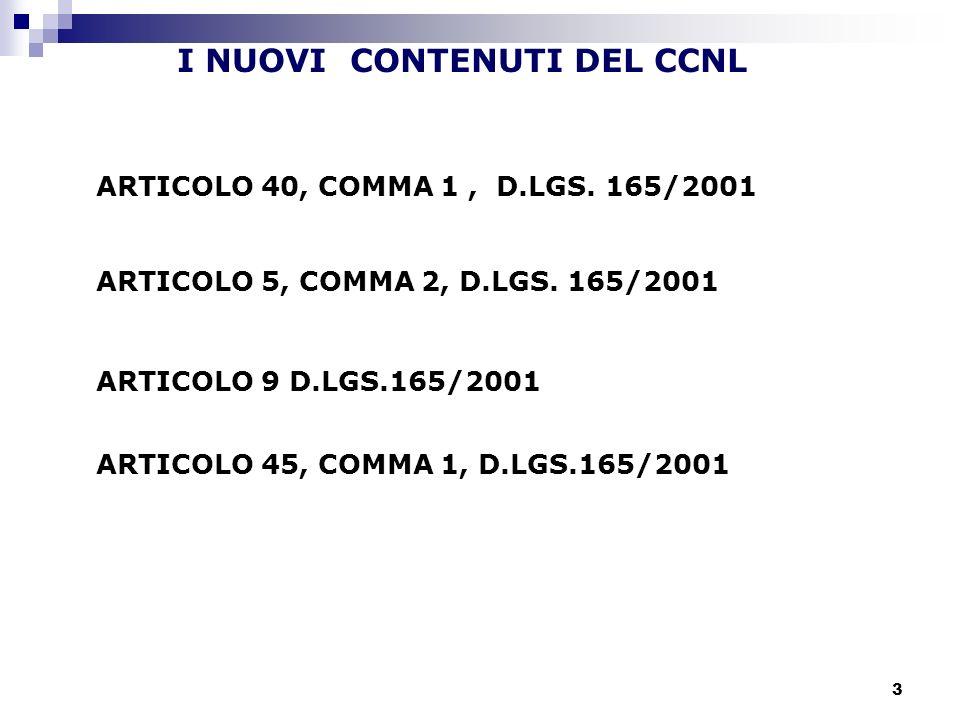 I NUOVI CONTENUTI DEL CCNL