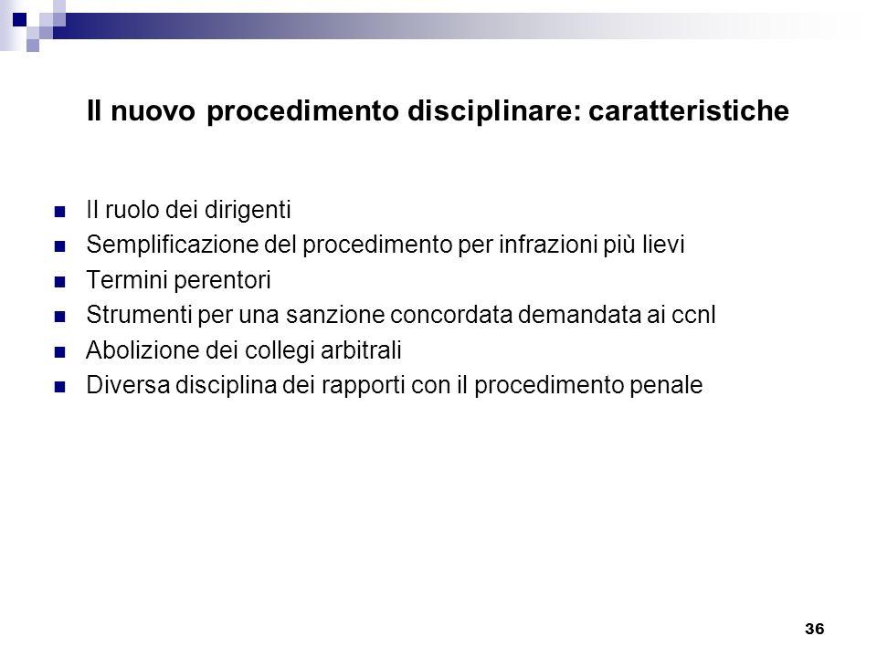 Il nuovo procedimento disciplinare: caratteristiche