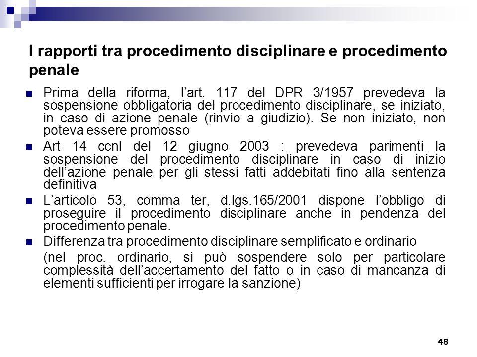 I rapporti tra procedimento disciplinare e procedimento penale