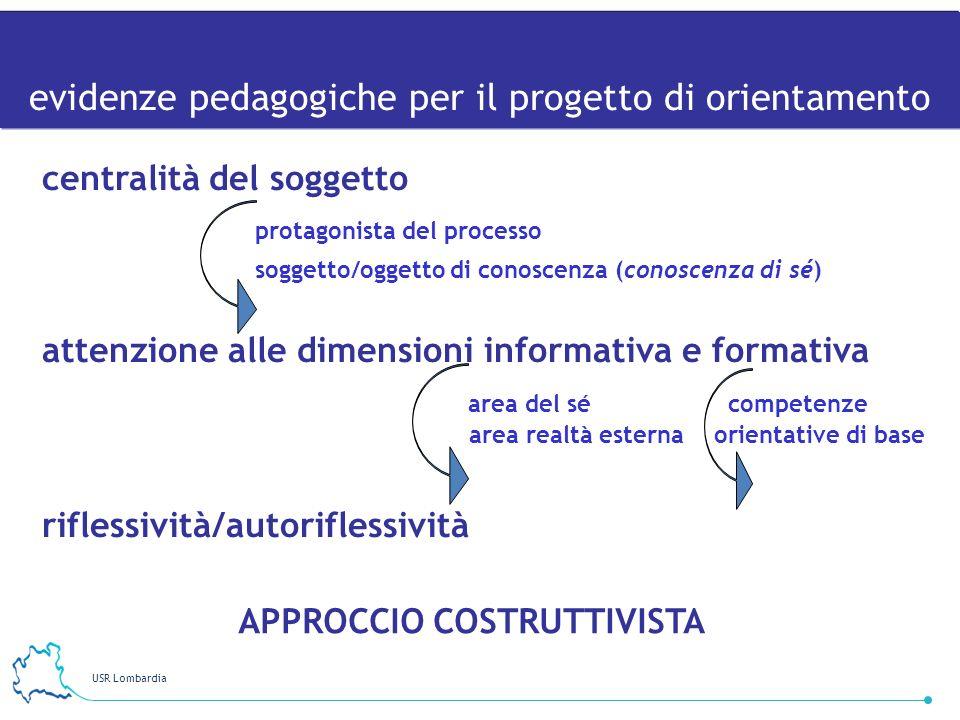 evidenze pedagogiche per il progetto di orientamento