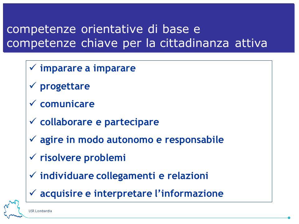 competenze orientative di base e competenze chiave per la cittadinanza attiva