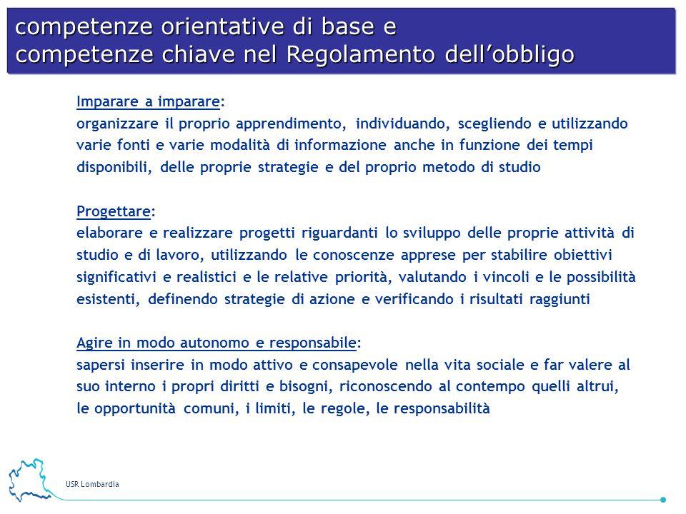 competenze orientative di base e competenze chiave nel Regolamento dell'obbligo