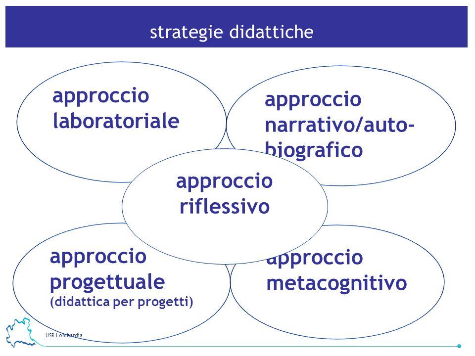 approccio laboratoriale approccio narrativo/auto-biografico