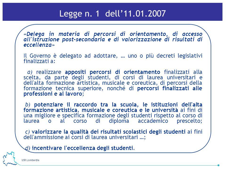 Legge n. 1 dell'11.01.2007