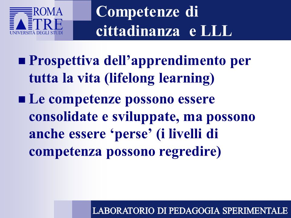 Competenze di cittadinanza e LLL