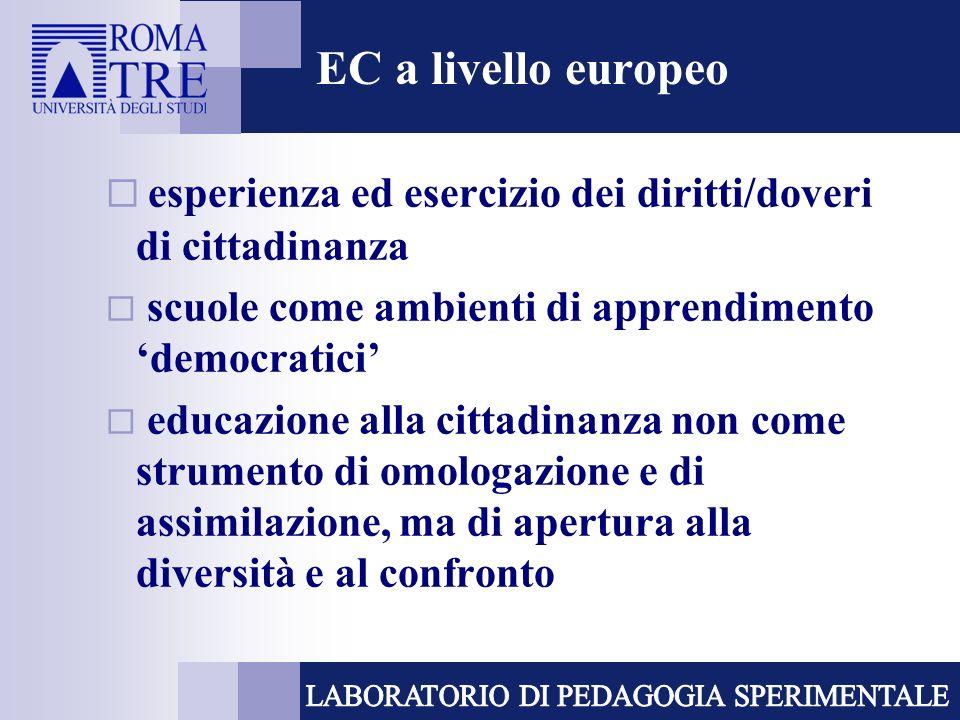 esperienza ed esercizio dei diritti/doveri di cittadinanza