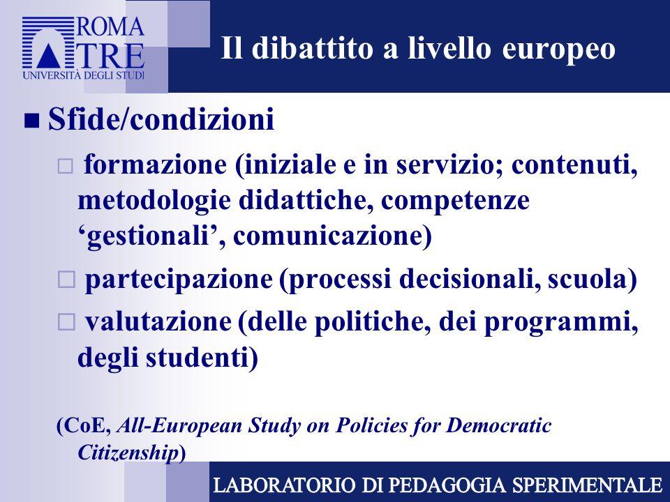 Il dibattito a livello europeo