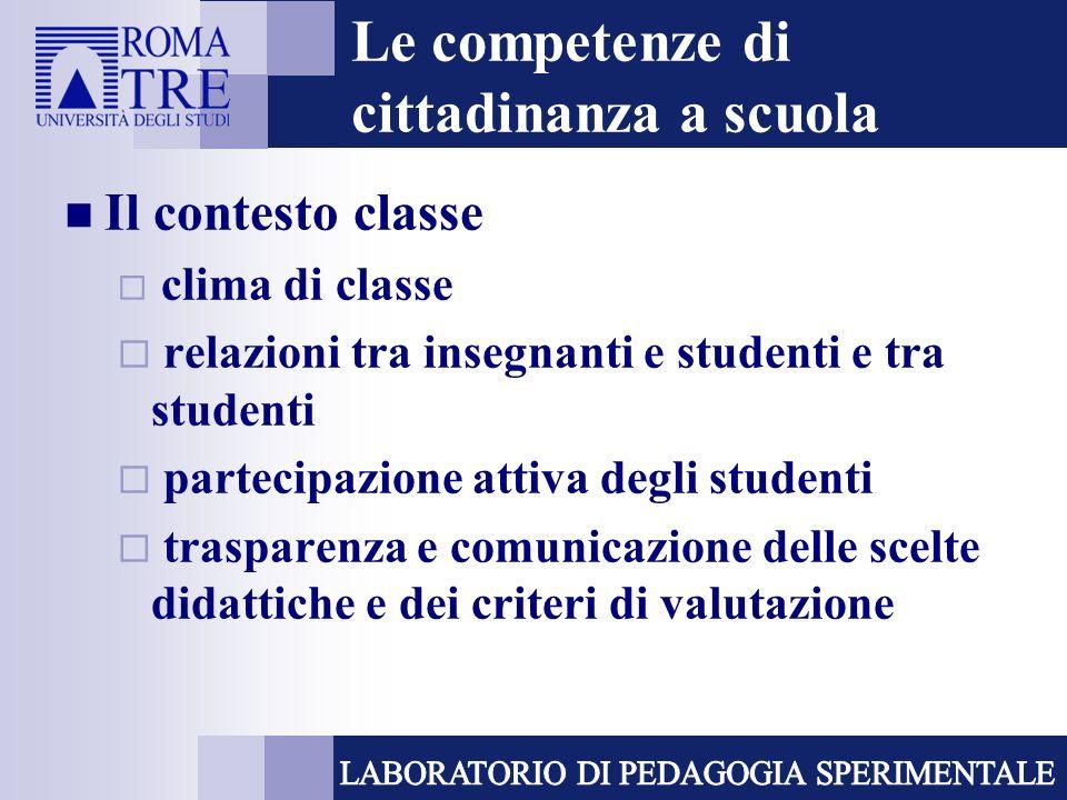 Le competenze di cittadinanza a scuola