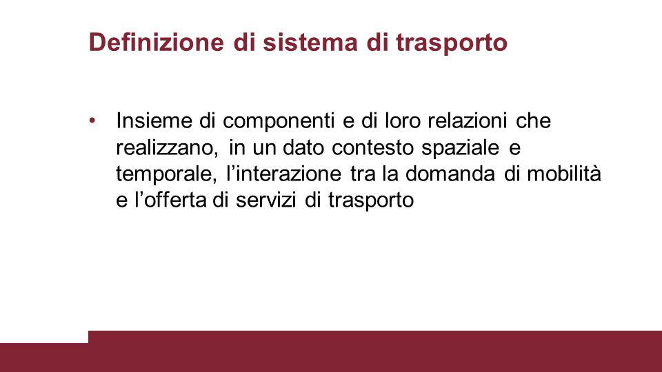Definizione di sistema di trasporto
