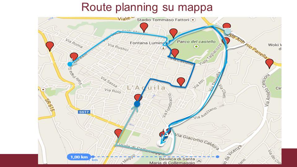 Route planning su mappa
