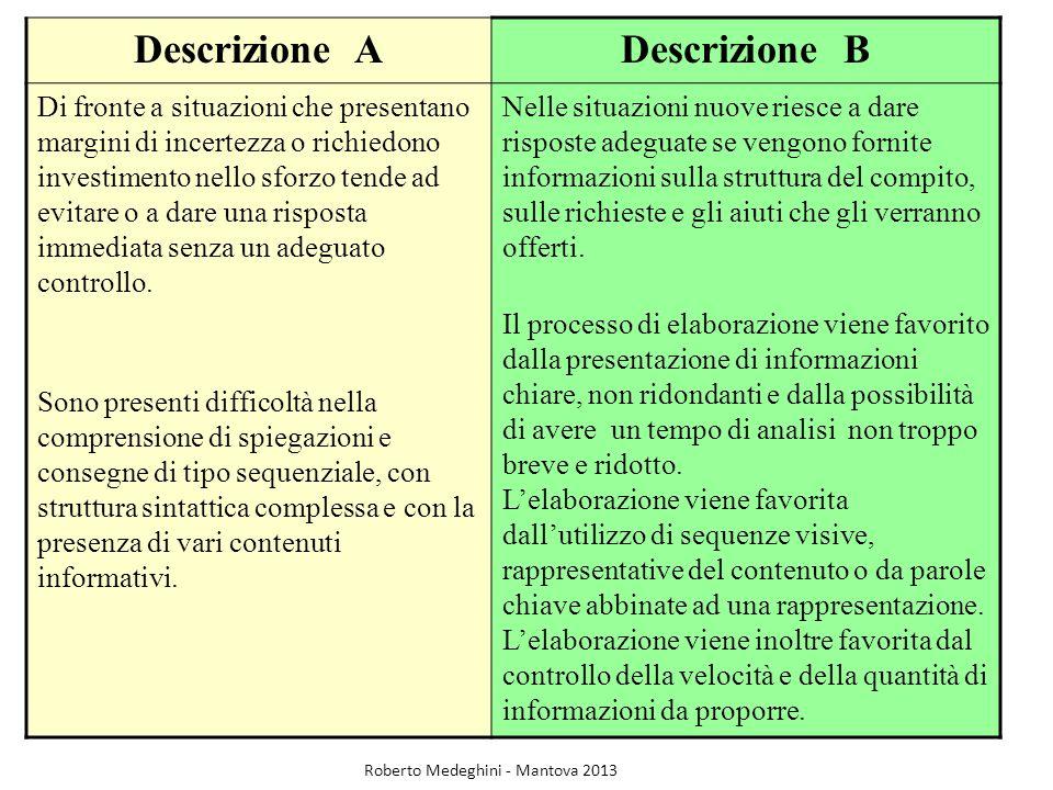 Descrizione A Descrizione B