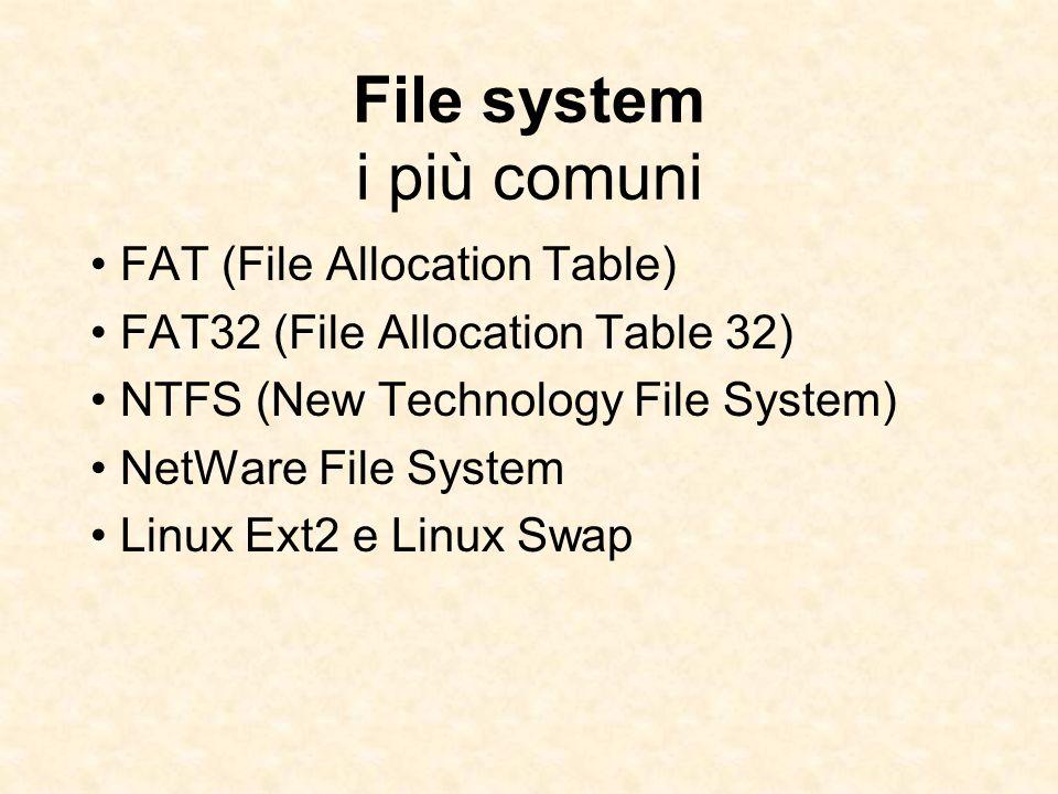 File system i più comuni