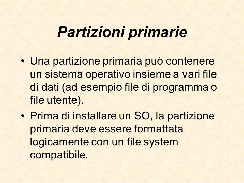 Partizioni primarie