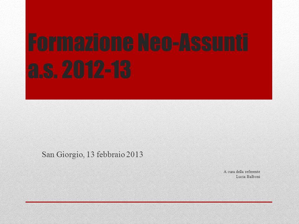Formazione Neo-Assunti a.s. 2012-13