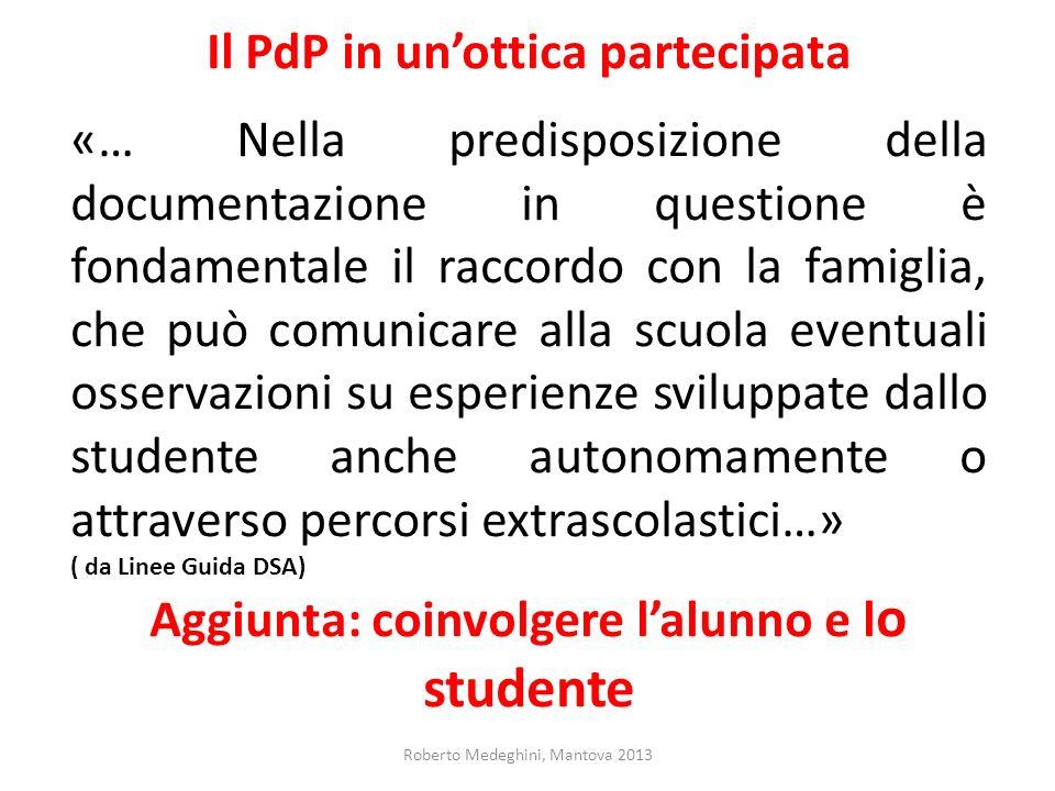 Il PdP in un'ottica partecipata