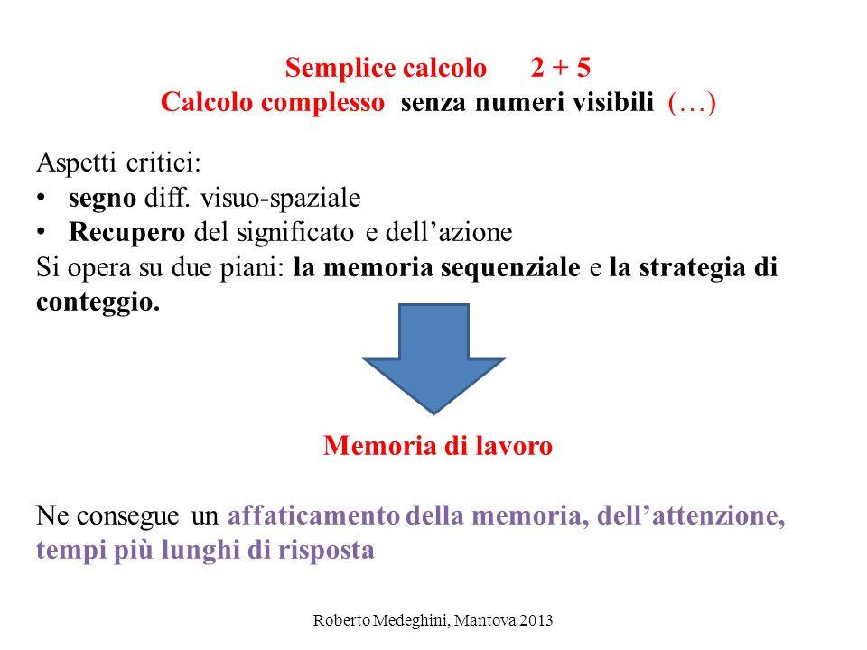 Semplice calcolo 2 + 5 Memoria di lavoro