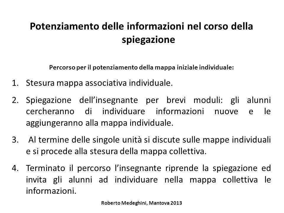 Potenziamento delle informazioni nel corso della spiegazione