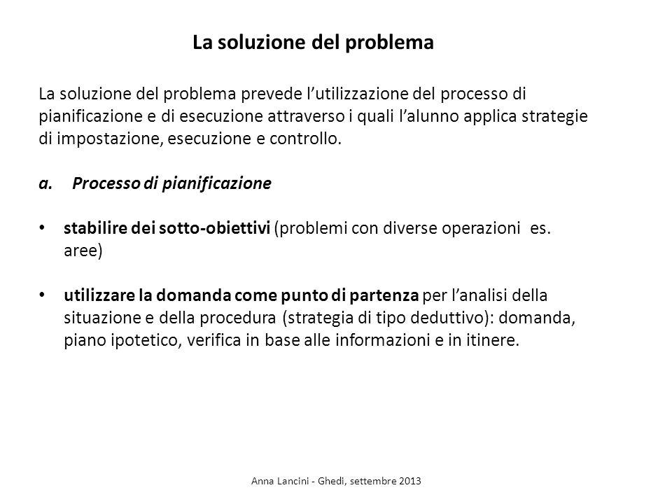 La soluzione del problema