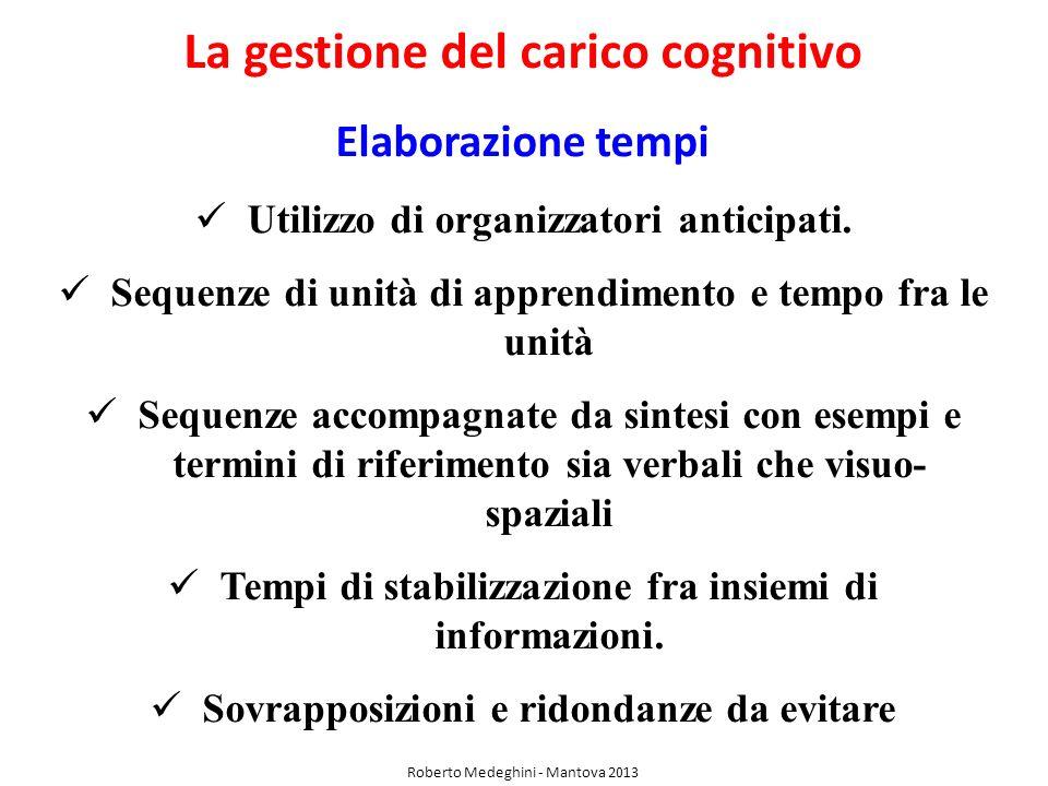 La gestione del carico cognitivo