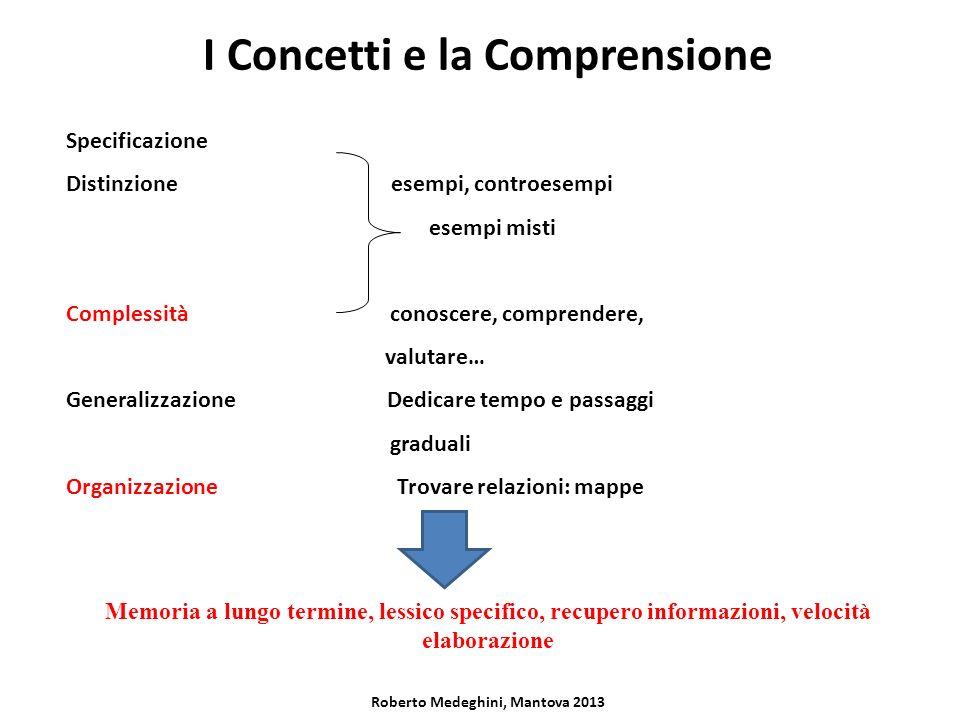 I Concetti e la Comprensione Roberto Medeghini, Mantova 2013