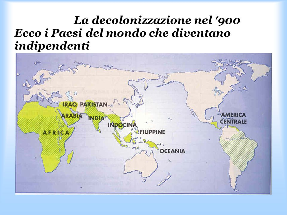 La decolonizzazione nel '900 Ecco i Paesi del mondo che diventano indipendenti