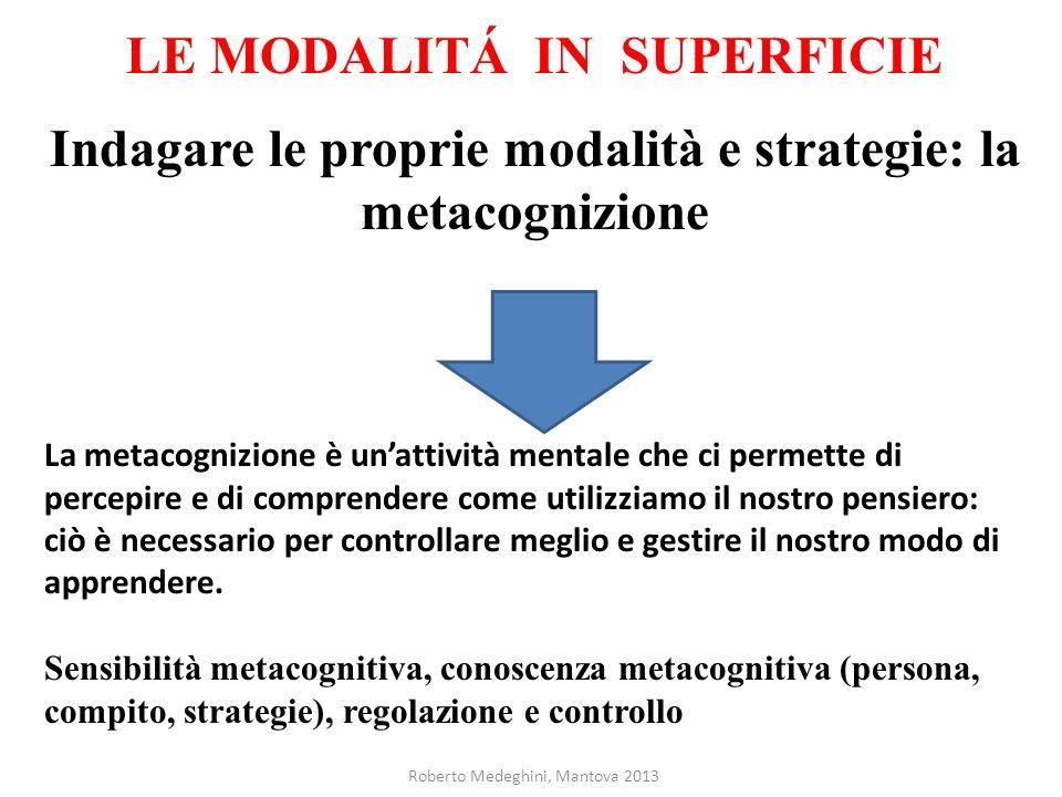LE MODALITÁ IN SUPERFICIE
