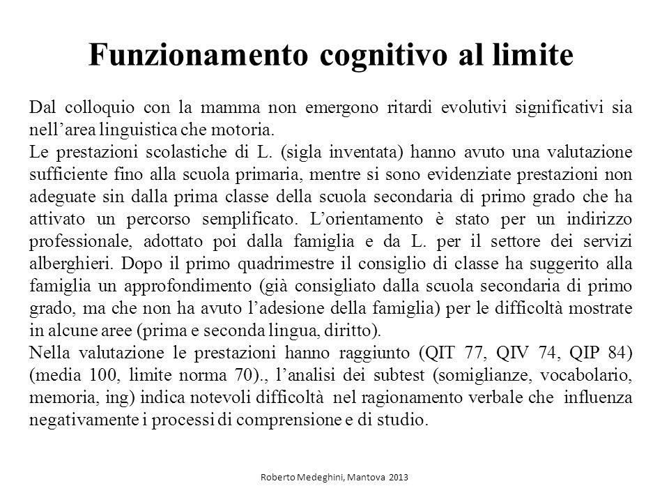 Funzionamento cognitivo al limite