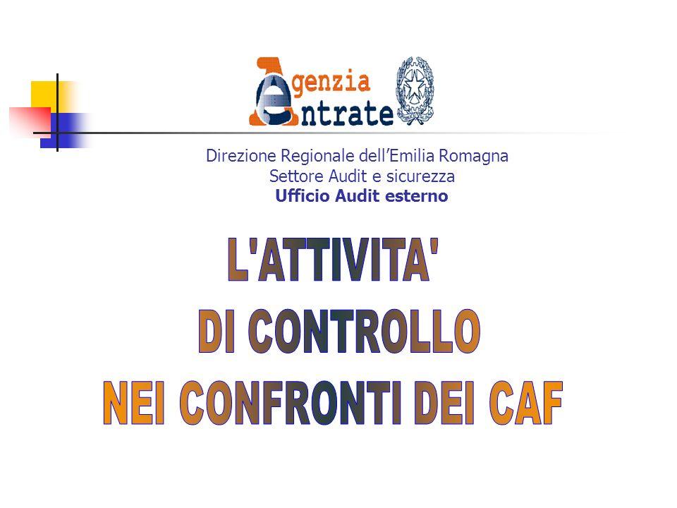Direzione Regionale dell'Emilia Romagna Settore Audit e sicurezza Ufficio Audit esterno