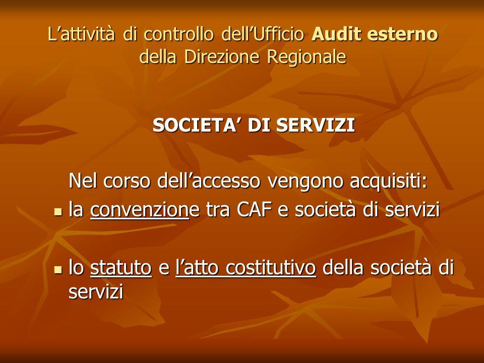 la convenzione tra CAF e società di servizi