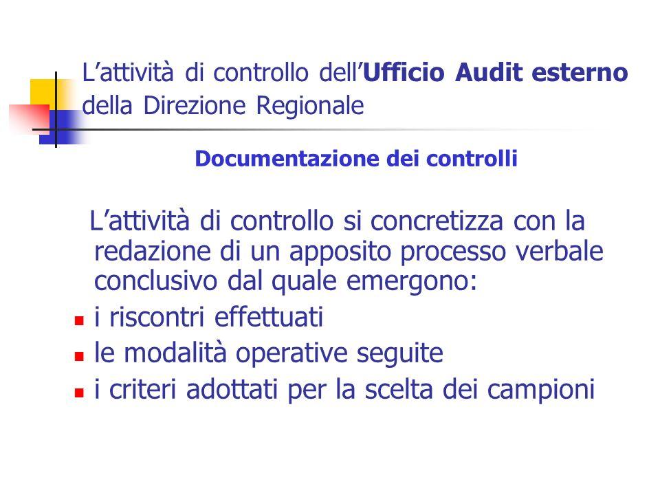 Documentazione dei controlli