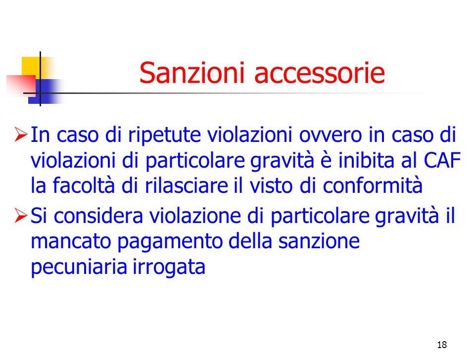 Sanzioni accessorie