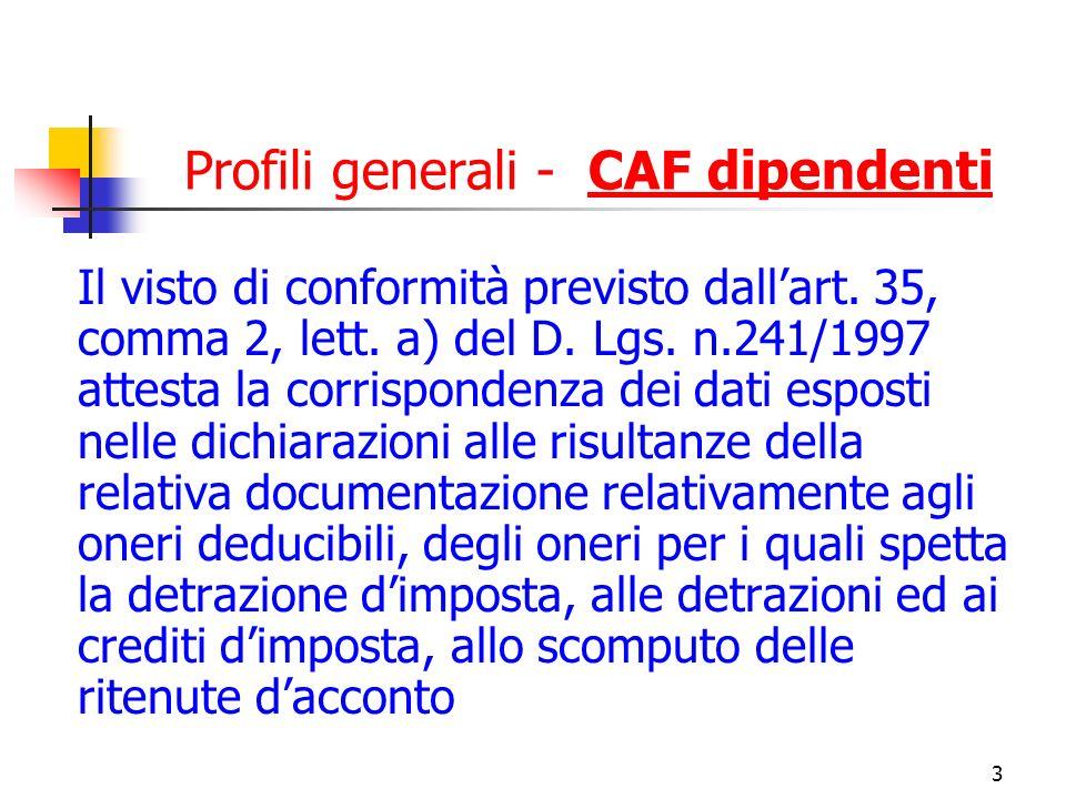 Profili generali - CAF dipendenti