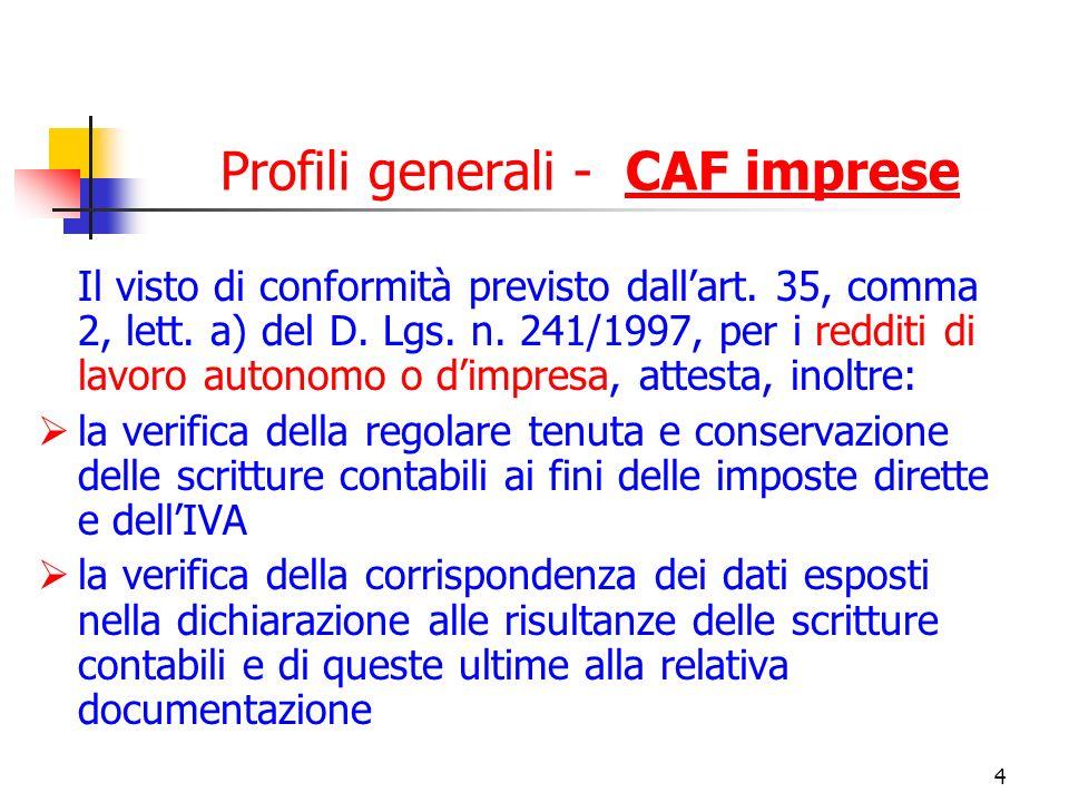 Profili generali - CAF imprese