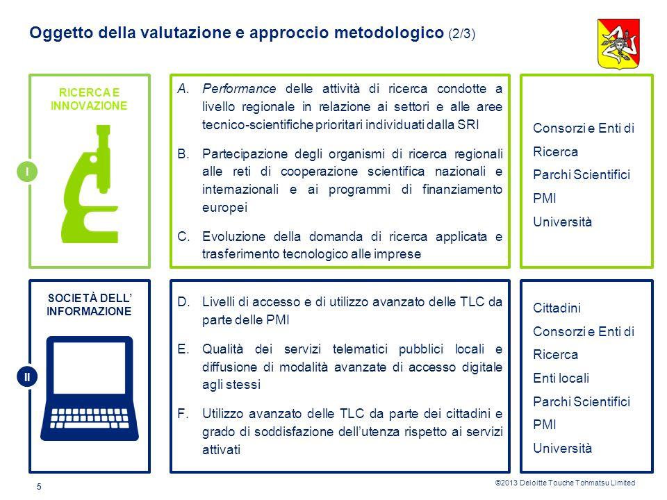 Oggetto della valutazione e approccio metodologico (2/3)