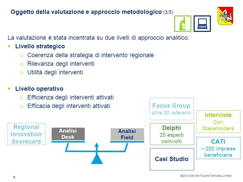 Oggetto della valutazione e approccio metodologico (3/3)