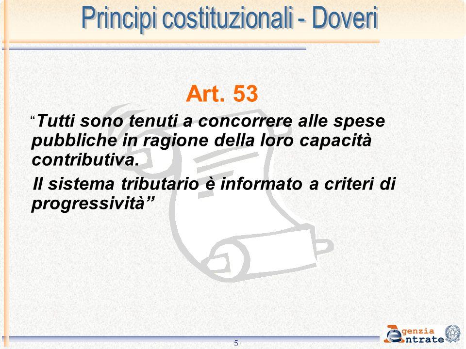 Principi costituzionali - Doveri