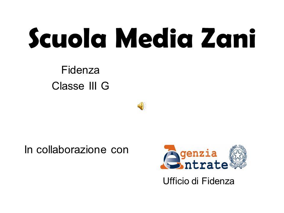 Scuola Media Zani Fidenza Classe III G In collaborazione con