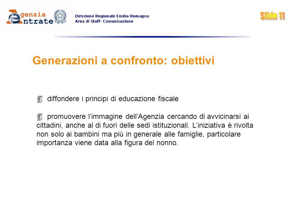 Generazioni a confronto: obiettivi