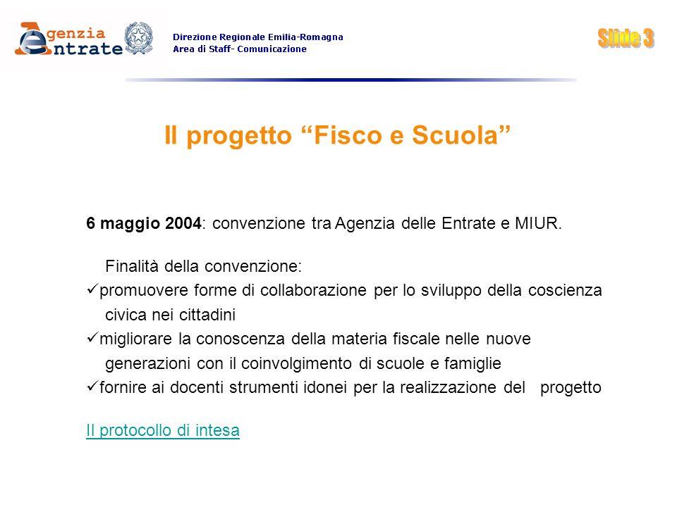 Il progetto Fisco e Scuola