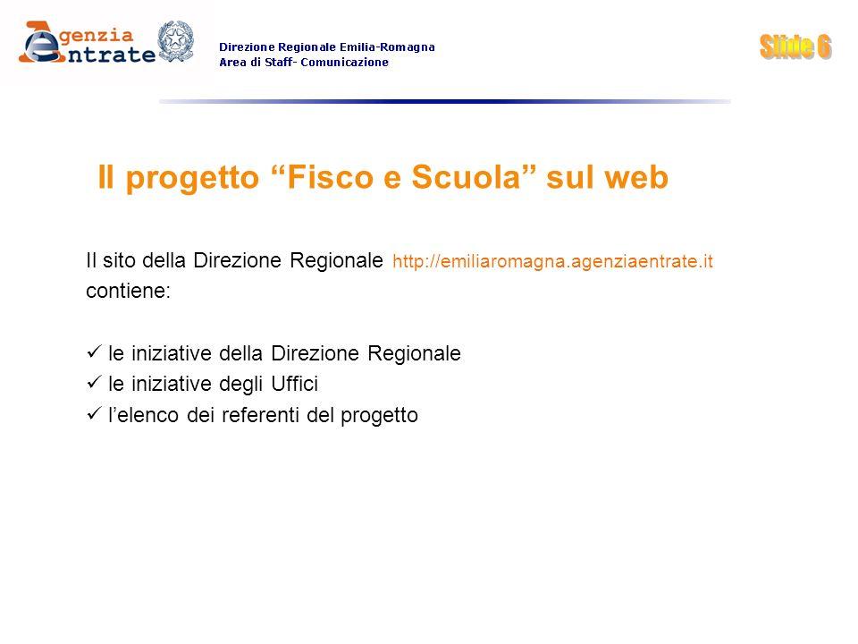Il progetto Fisco e Scuola sul web