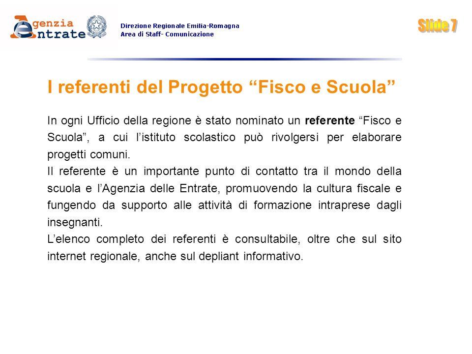 I referenti del Progetto Fisco e Scuola