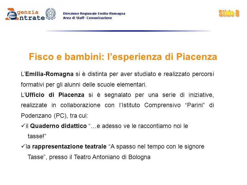 Fisco e bambini: l'esperienza di Piacenza