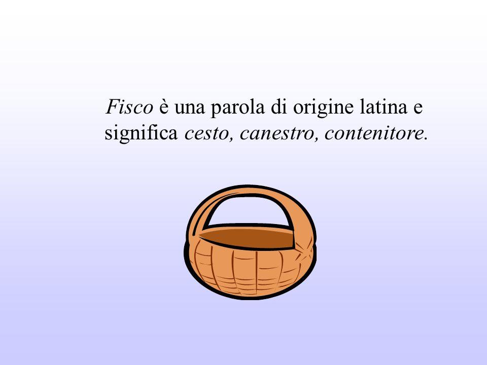 Fisco è una parola di origine latina e